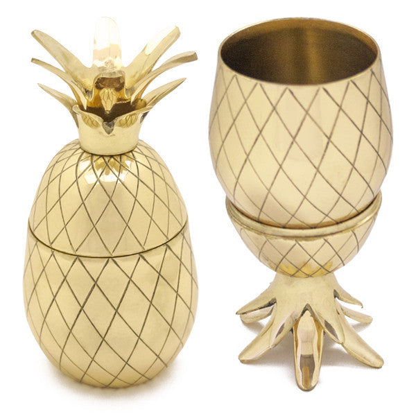 Pineapple Tumbler Cocktail Glasses - Gold | www.thefowndry.com