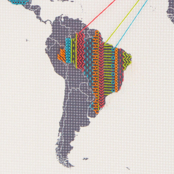 Buy Cross Stitch World Map and other gifts online - The Fowndry