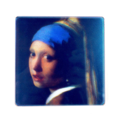 CMYK Coasters - Girl with a Pearl Earring by Vermeer