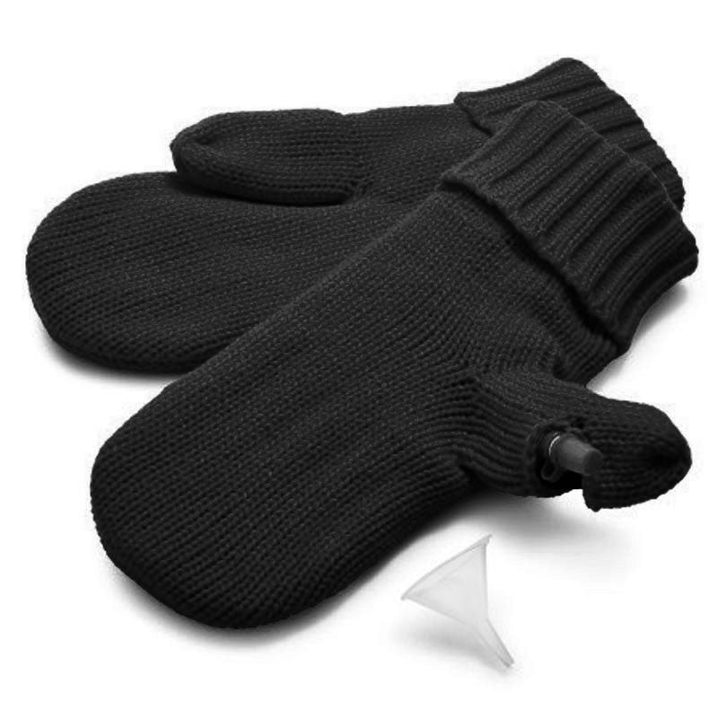 Mitten Flask in black, white cutout image