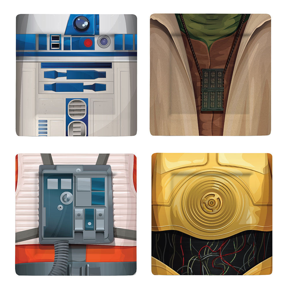 Star Wars Melamine Plate Sets - Classic Characters - Set of 4 Only £14.99