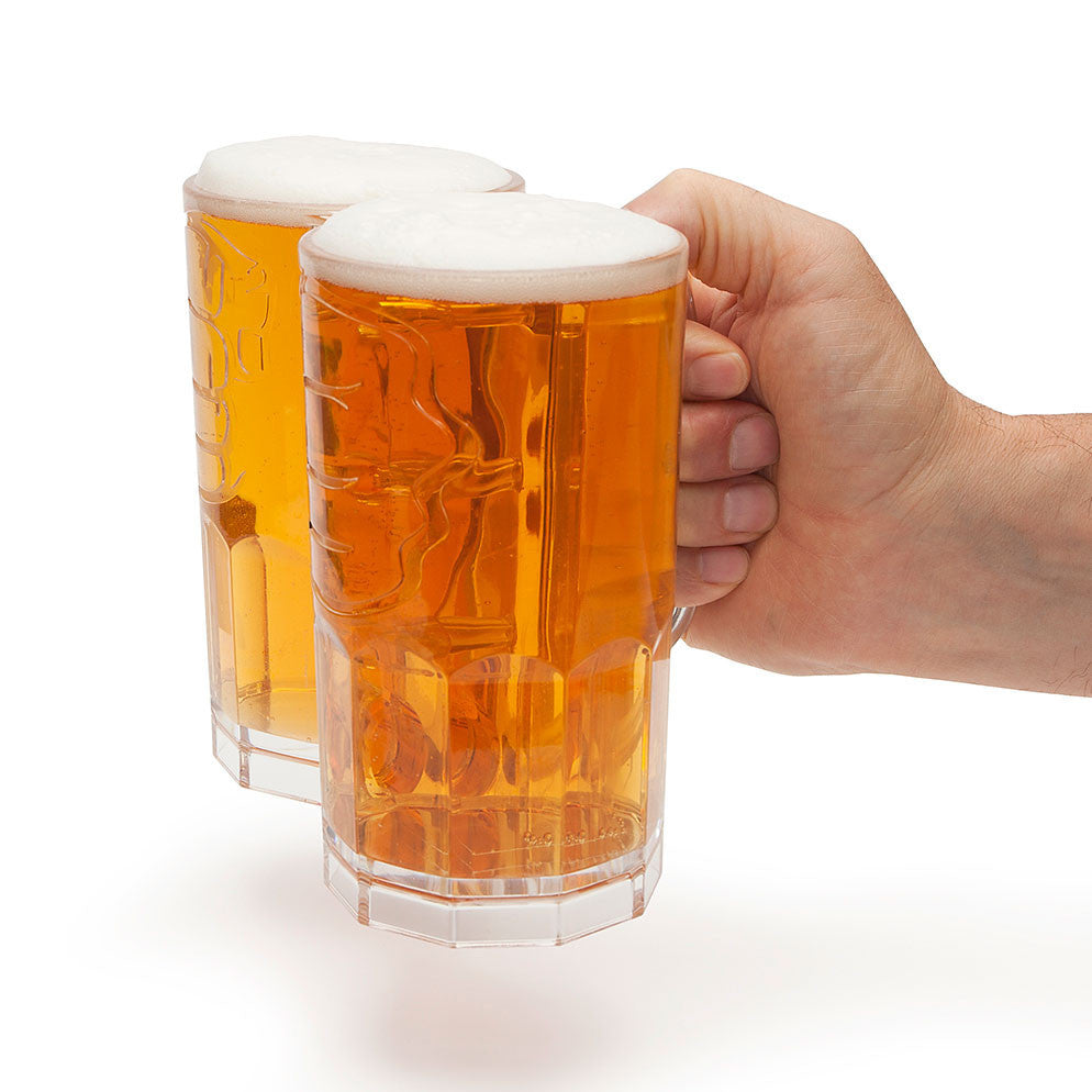 Two Fisted Drinker - Two Beer Glasses In One!