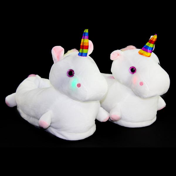Buy Magical Unicorn Light Up LED Slippers and other gifts online - The Fowndry