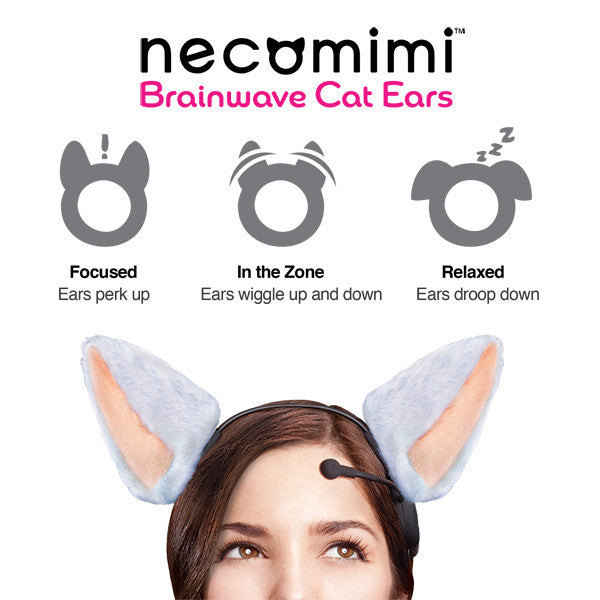 Buy Necomimi Brainwave Cat Ears and other gifts online - The Fowndry