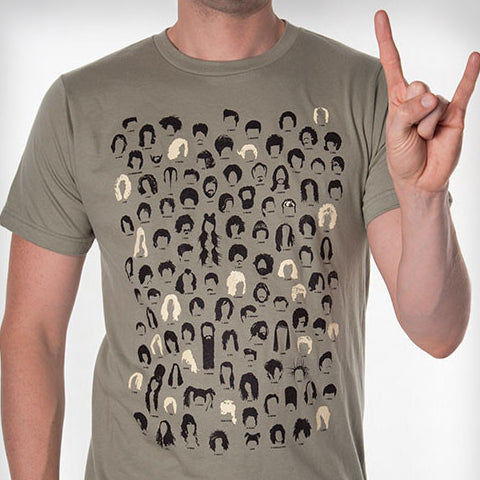 Haircuts in Popular Music T-Shirt