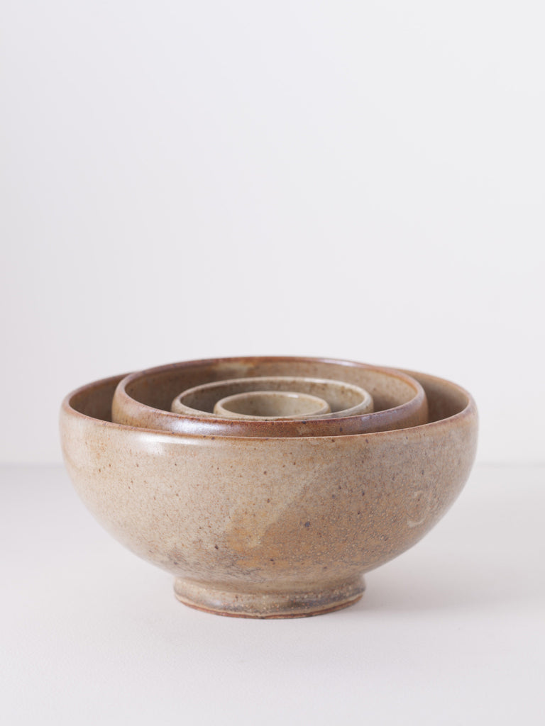 Shino Stoneware Nesting Bowls, Set of 4
