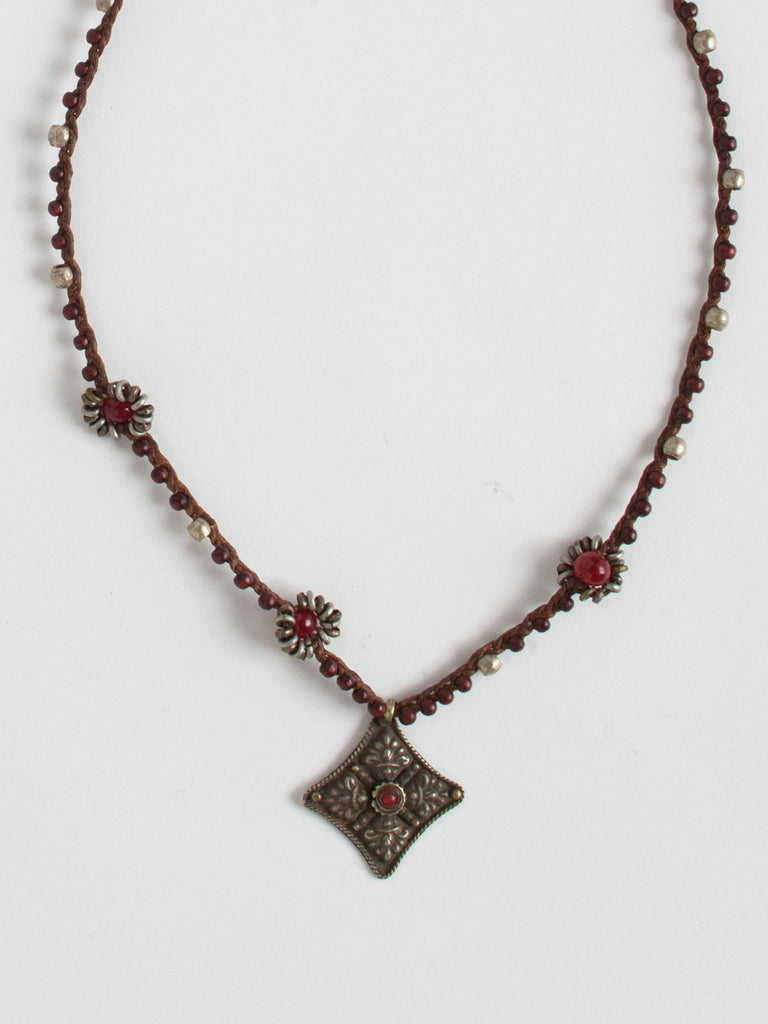Vintage Tribal Medallion Necklace