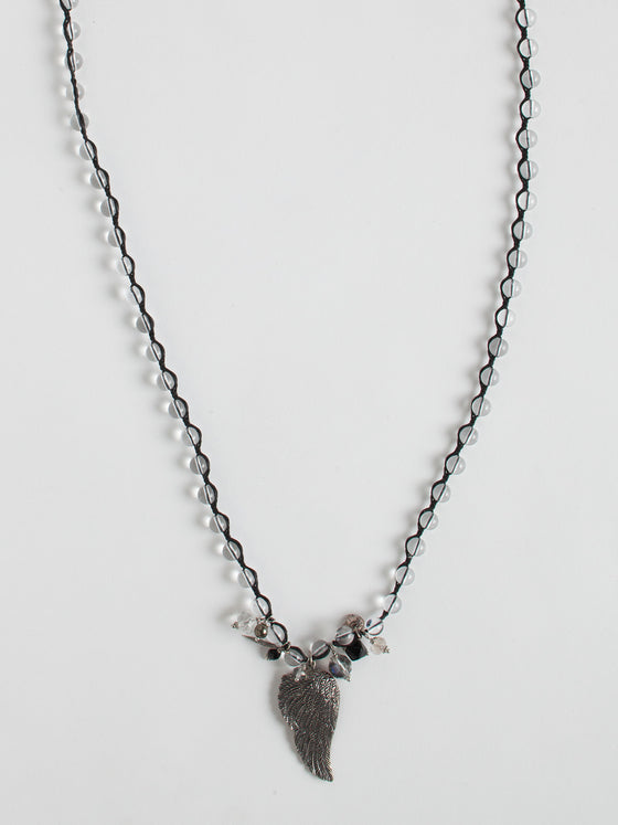 Angel Wing Cluster Necklace