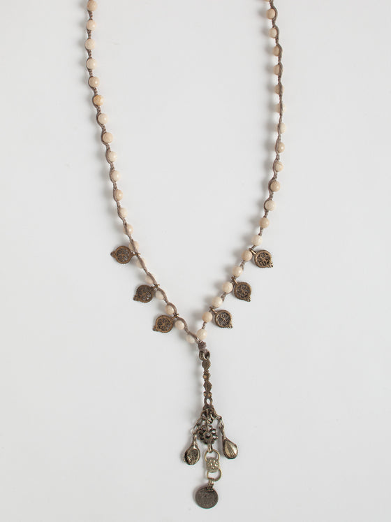 African Heritage Bone + Metal Necklace