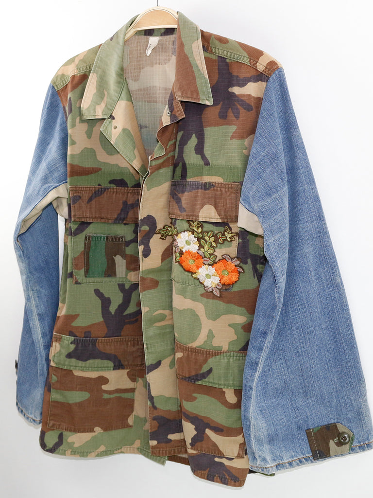 Combat Field Jacket with Embroidery