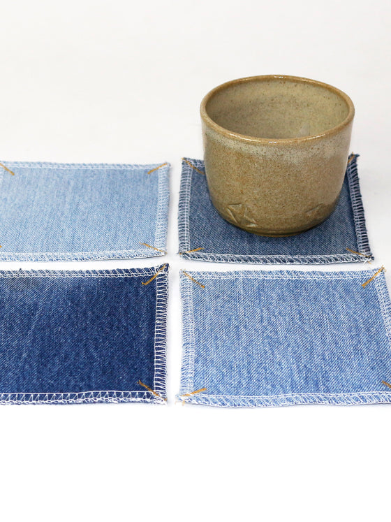 Denim Coasters, Set of 4