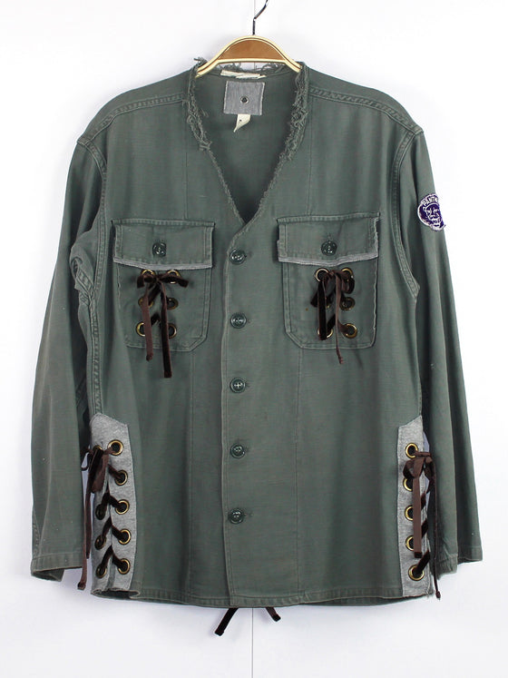Oversized Utility Shirt with Panther Patch