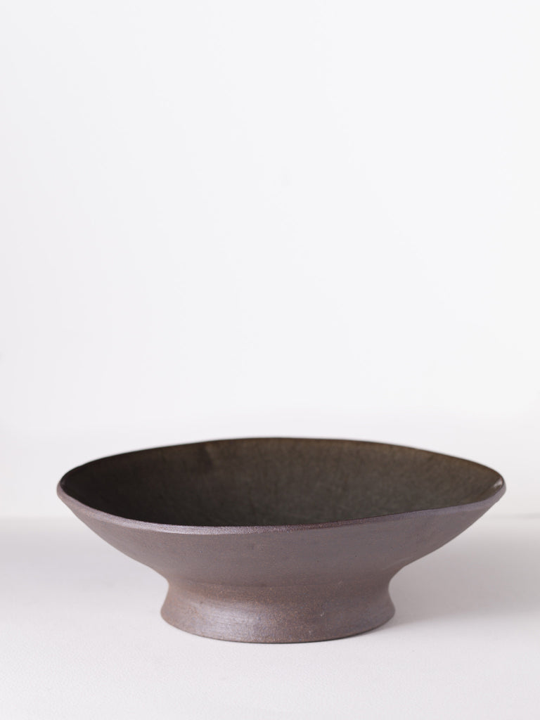 Footed Stoneware Serving Bowl