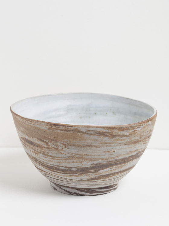 "Ceramic ""Wood"" Serving Bowl"
