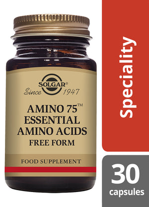 Solgar® Amino 75 Essential Amino Acids Vegetable Capsules - Pack of 30