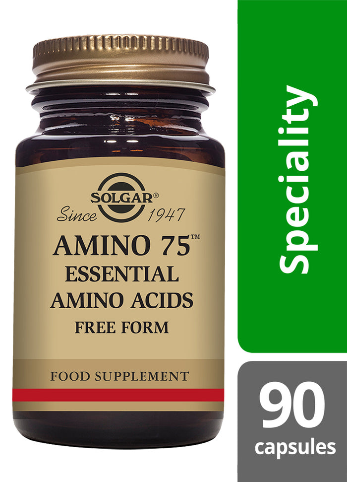 Solgar® Amino 75 Essential Amino Acids Vegetable Capsules - Pack of 90