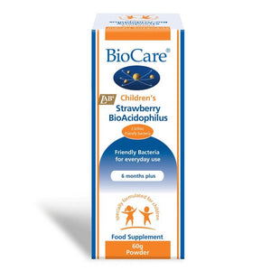 Biocare Children's Strawberry BioAcidophilus 60g