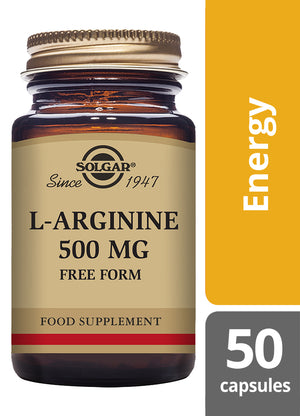 Solgar® L-Arginine 500mg Vegetable Capsules - Pack of 50