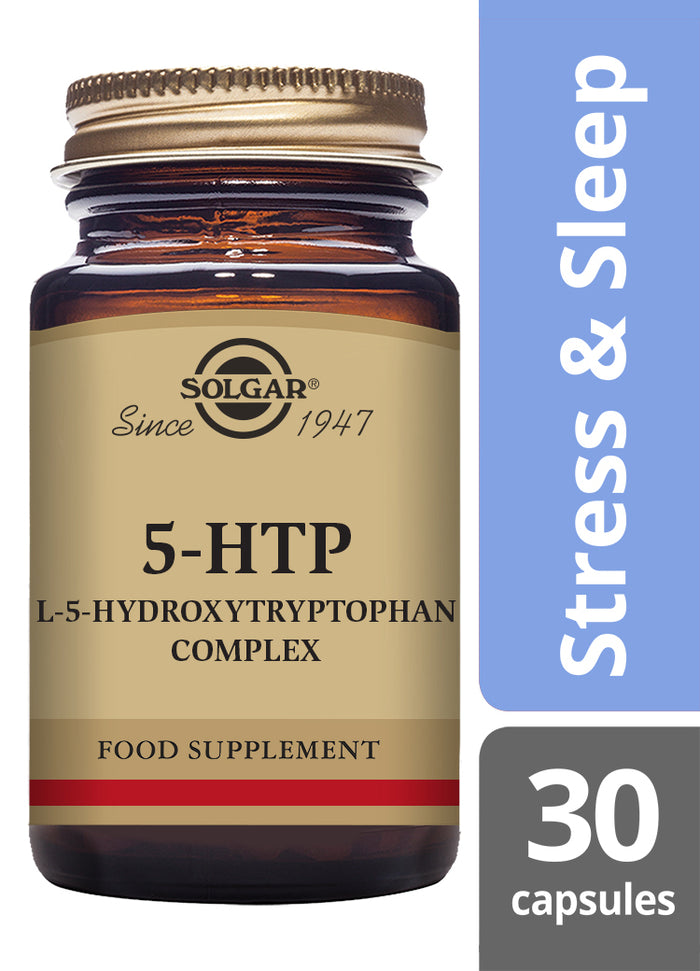 Solgar® 5-HTP (L-5-Hydroxytryptophan) Complex Vegetable Capsules - Pack of 30