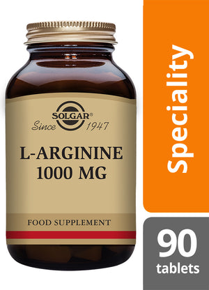 Solgar® L-Arginine 1000mg Tablets - Pack of 90