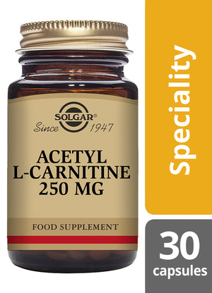Solgar® Acetyl-L-Carnitine 250 mg Vegetable Capsules - Pack of 30