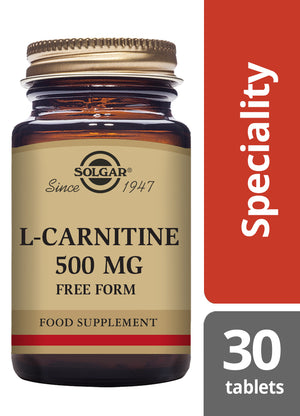 Solgar® L-Carnitine 500 mg Tablets - Pack of 30