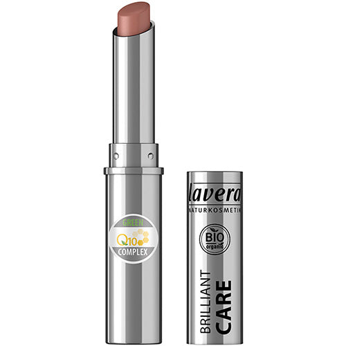 Lavera Brilliant Care Lipstick Q10 - Light Hazel 08 - 1.7g