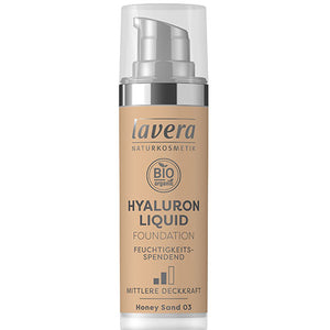 Lavera Hyaluron Liquid Foundation - Honey Sand 03 - 30ml