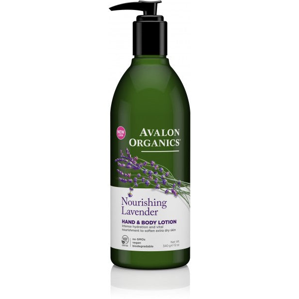 Avalon Organics Lavender Hand and Body Lotion 340g