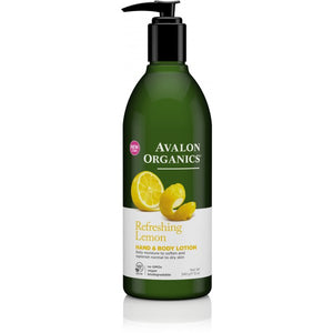Avalon Organics Lemon Hand and Body Lotion 340g