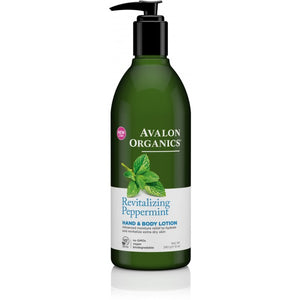 Avalon Organics Peppermint Hand and Body Lotion 340g