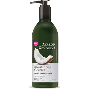 Avalon Organics Coconut Moisturizing Hand and Body Lotion 340g