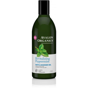 Avalon Organics Peppermint Bath and Shower Gel 355ml