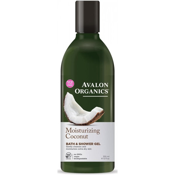 Avalon Organics Coconut Moisturizing Bath and Shower Gel 355ml