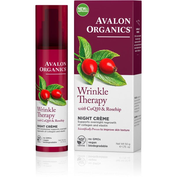 Avalon Organics Wrinkle Therapy Night Crème 50ml