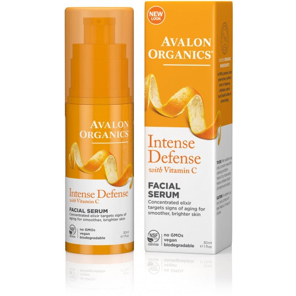 Avalon Organics Intense Defense Vitality Facial Serum 30ml