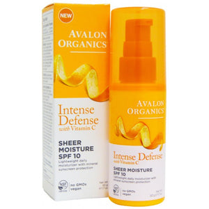 Avalon Organics Intense Defense Sheer Moisture SPF10 50g