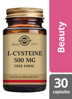 Solgar® L-Cysteine 500 mg Vegetable Capsules - Pack of 30