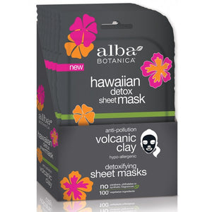 Alba Botanica Hawaiian Volcanic Clay Detoxifying Sheet Mask x 1 sheet