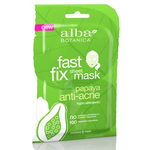 Alba Botanica Papaya Anti-Acne Sheet Mask Fast Fix Sheet Mask x 1