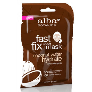 Alba Botanica Coconut Hydrate Sheet Mask Fast Fix Sheet Mask x 1