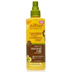 Alba Botanica Hawaiian Coconut Leave-In Conditioner Mist 240ml