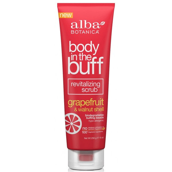Alba Botanica Body In Buff Grapefruit & Walnut Shell Body Scrub 256g
