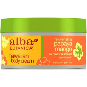 Alba Botanica Hawaiian Papaya Mango Body Cream 184g