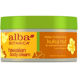 Alba Botanica Hawaiian Kukui Nut Body Cream 180g