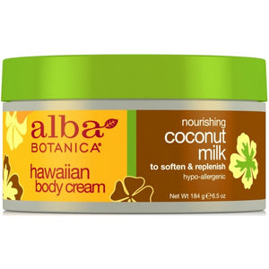 Alba Botanica Hawaiian Coconut Milk Body Cream 180g