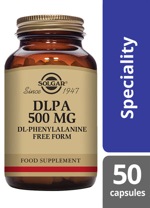 Solgar® DLPA 500 mg Vegetable Capsules - Pack of 50