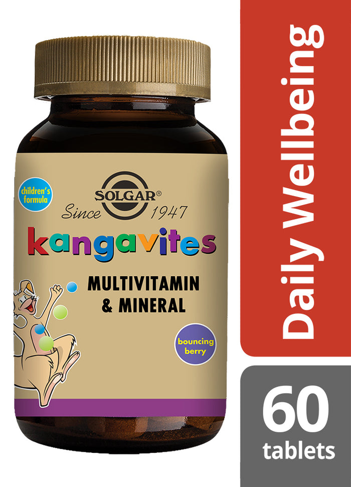 Solgar® Kangavites® Complete Multivitamin & Mineral Formula for Children (Bouncing Berry) Chewable Tablets - Pack of 60