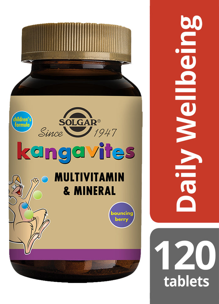 Solgar® Kangavites® Complete Multivitamin & Mineral Formula for Children (Bouncing Berry) Chewable Tablets - Pack of 120