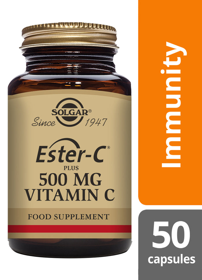 Solgar® Ester-C ® Plus 500mg Vitamin C Vegetable Capsules - Pack of 50